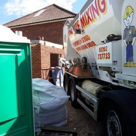 on site concrete mixing poole