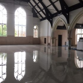 Liquid screed - church