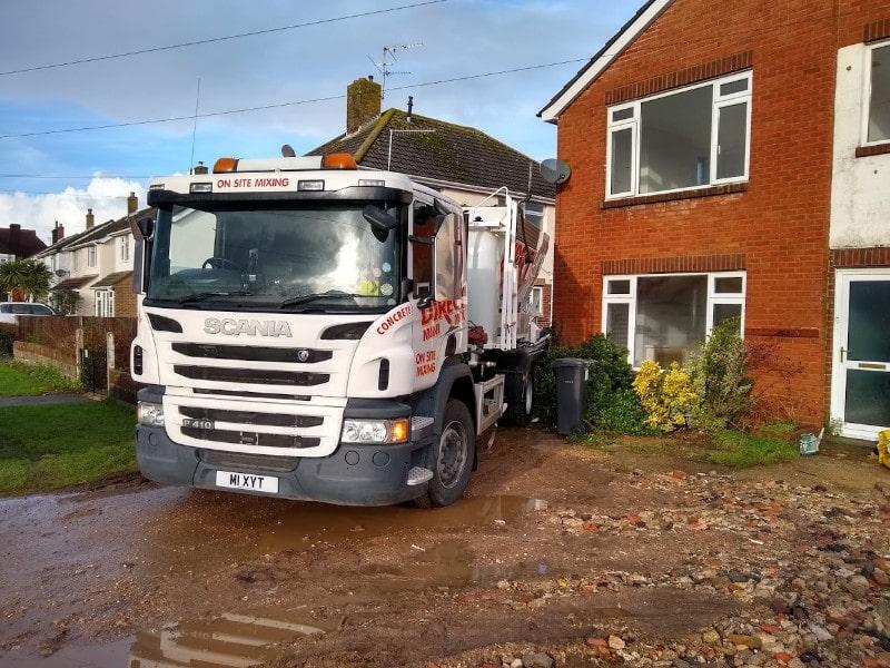 On site concrete company in Dorset