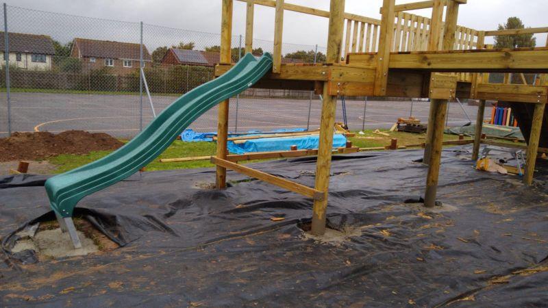 playground concrete pumping