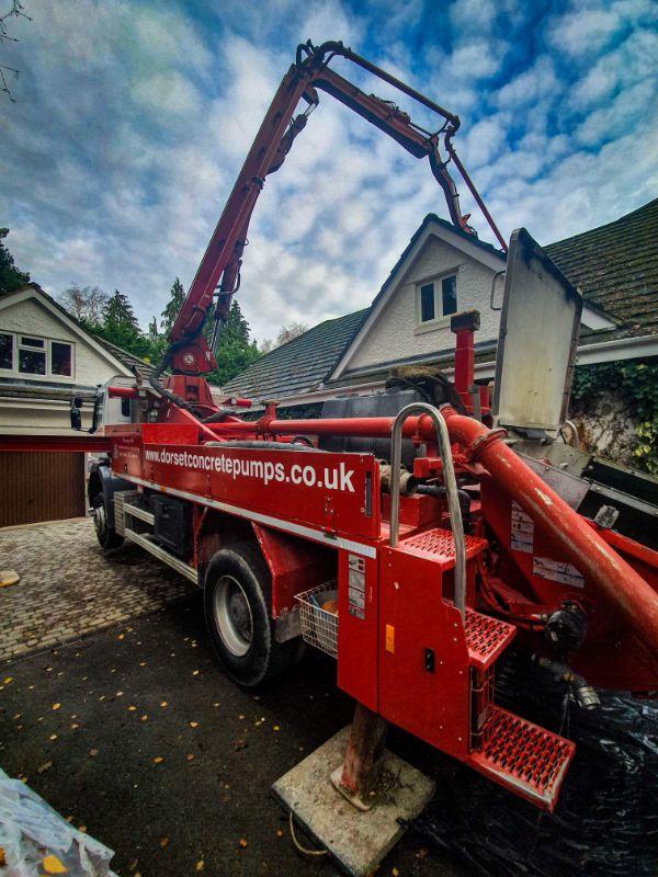 Concrete pumping in Dorset