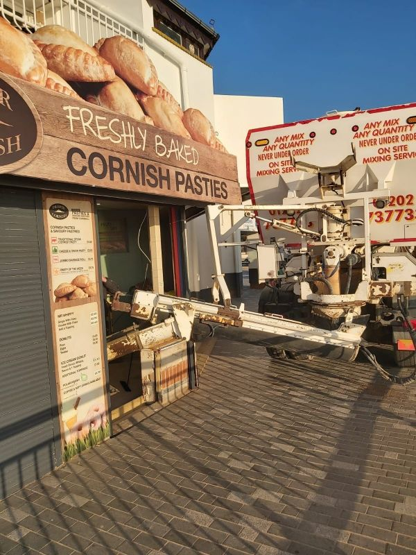 Supplying Concrete to Freshly baked