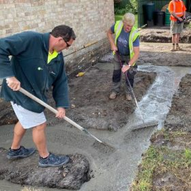 leveling the concrete